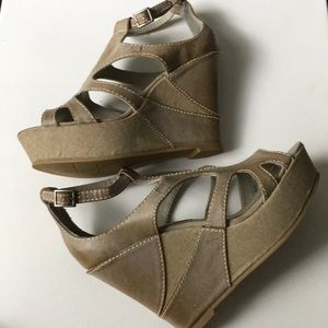 Big Buddha wedge heels